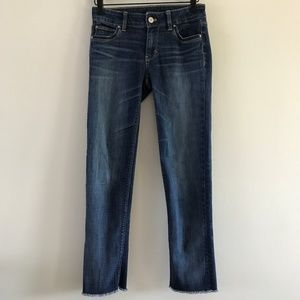 White House Black Market Slim Crop Raw Hem Jean 00
